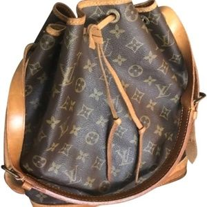Louis Vuitton Drawstring Noe Gm Brown Leather BAG